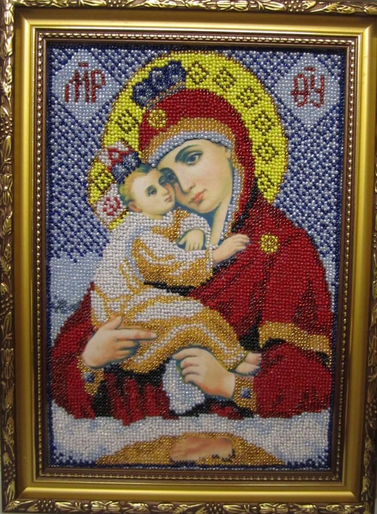 Вышивка почаевская божья мать